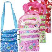 48 Units of LARGE FLOWERS & BUTTERFLIES MESSENGER BAGS - Shoulder Bags & Messenger Bags