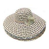 120 Units of Ladies Jute Hat w/ Stripe