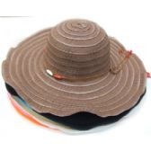 60 Units of Large Hat w/ Wood Beads Tie