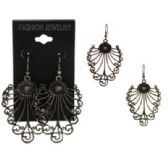 96 Units of French hook dangle earrings with ornate shaped design