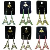 96 Units of French hook style Eiffel Tower shaped dangle earrings