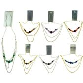 96 Units of Gold-tone & Silver-tone french hook style dangle earrings with assorted color