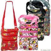 48 Units of LARGE OWL PRINT MESSENGER BAGS - Shoulder Bags & Messenger Bags