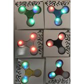 24 Units of Light Up Fidget Spinner Assorted