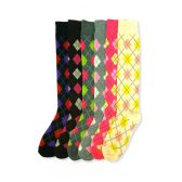 144 Units of Women's Argyle Knee Highs - Womens Knee Highs