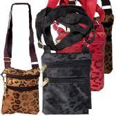 120 Units of CHEETAH DAMASK WEAVE MESSENGER BAGS. - Shoulder Bags & Messenger Bags