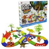 6 Units of 142 PIECE BATTERY OPERATED DINO RAIL CARS.