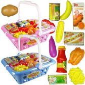 12 Units of 22 PIECE SHOPPING BASKET PLAY SETS