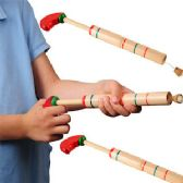 144 Units of WOODEN PIRATE POP GUNS. - Toy Weapons