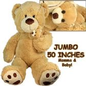 2 Units of JUMBO PLUSH CUDDLE BEARS W/ CUB - Plush Toys