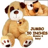 2 Units of JUMBO PLUSH CUDDLE DOGS W/ BABY - Plush Toys
