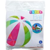 "24 Units of 42"" GIANT BEACH BALL IN PEGABLE POLY BAG"
