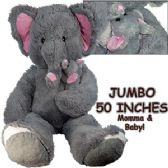 2 Units of JUMBO PLUSH CUDDLE ELEPHPHANTS W/ BABY - Plush Toys