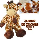 2 Units of JUMBO PLUSH CUDDLE GIRAFFE W/ BABY. - Plush Toys