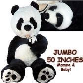2 Units of JUMBO PLUSH CUDDLE PANDA BEAR W/ BABY - Plush Toys