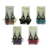 36 Units of Water drop shaped dangle earrings - Earrings