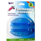 48 Units of Wholesale 2 pack Toothpaste Squeezer