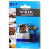 48 Units of Laminated 30mm(1.2 inch) padlock with keys