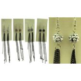 36 Units of Embossed designed balls with chain dangle earrings - Earrings