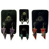 36 Units of Triangle dangle earrings - Earrings