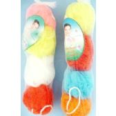 24 Units of Wholesale 4 pcs of Shower sponges assorted colors