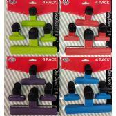 24 Units of Wholesale 4 Pieces Bag Clips - Kitchen Gadgets & Tools