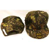 24 Units of Wholesale Camo Flat Bill Snap Back Hat