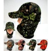24 Units of Wholesale Camo baseball cap with neck cover