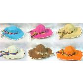 24 Units of Wholesale lady sun hat assorted colors
