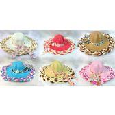 24 Units of Wholesale Lady Sun hat Braided Brim