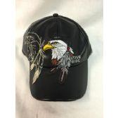 24 Units of Wholesale Faux Leather Eagle baseball cap/ hat