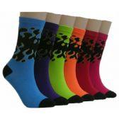 360 Units of Women's Colorful Crew Socks - Womens Crew Sock