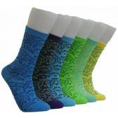 360 Units of Women's Printed Crew Socks - Womens Crew Sock