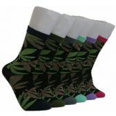 360 Units of Women's Marijuana Socks - Womens Crew Sock