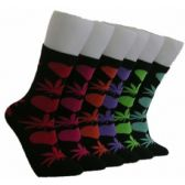 360 Units of Women's Love & Weed Socks - Womens Crew Sock