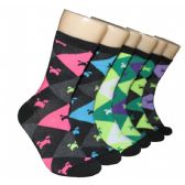 360 Units of Women's Argyle Crew Socks