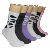 360 Units of Women's Patterned Crew Socks