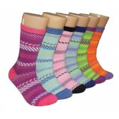 360 Units of Women's Herringbone Crew Socks