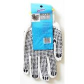 96 Units of Wholesale PVC Dotted Gloves Work Home Garden Automotive