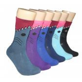 360 Units of Women's Shark Attack Crew Socks