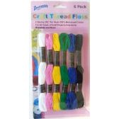 48 Units of Wholesale Craft Thread Floss 6 Pack - Sewing Supplies