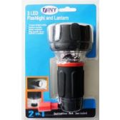 24 Units of Wholesale LED Flashlight and Lantern 2 in 1 Camping Home Office Anywhere
