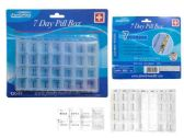 72 Units of 7 Day Pill Box - Pill Boxes and Accesories