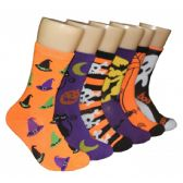 360 Units of Women's Halloween Crew Socks