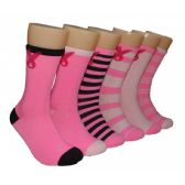 360 Units of Women's Breast Cancer Awareness Crew Socks - Breast Cancer Awareness Socks
