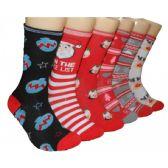 360 Units of Women's Christmas Crew Socks - Womens Crew Sock