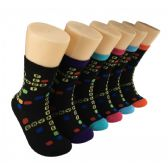 360 Units of Women's Letter Bubbles Crew Socks