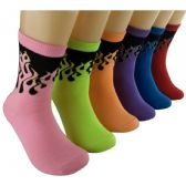 360 Units of Women's Flaming Hot Crew Socks