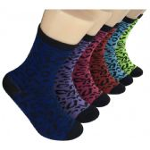 360 Units of Women's Animal Print Crew Socks