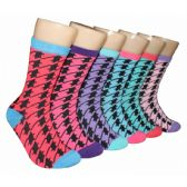 360 Units of Women's Houndstooth Crew Socks